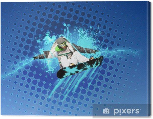 Cuadro en Lienzo Snowboards montage -