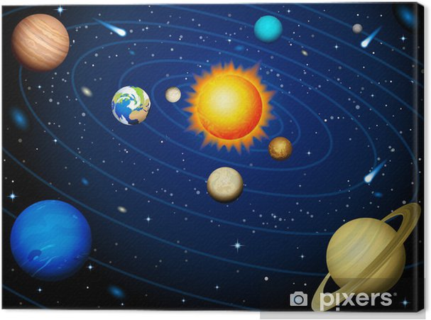 Cuadro en Lienzo Solar system - Universo