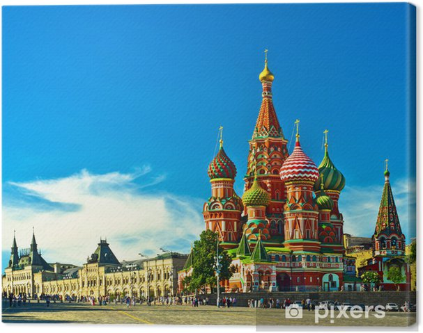 Cuadro en Lienzo St Basils Catedral, Moscú, Rusia - Moscú