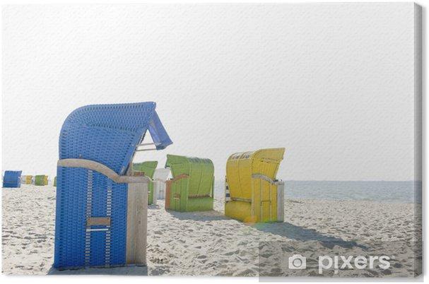 Cuadro en Lienzo Strandkörbe 3 - Vacaciones