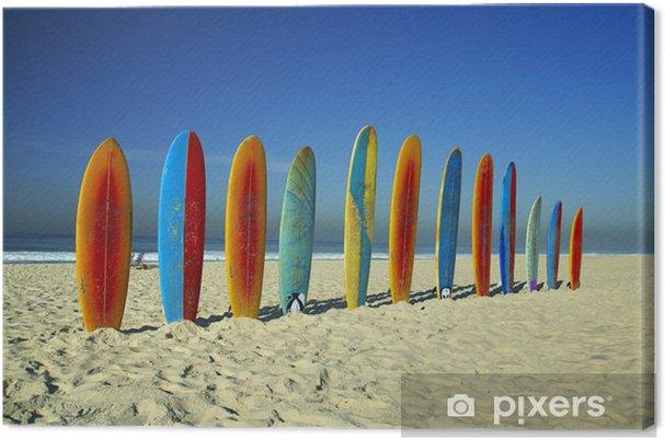 Cuadro en Lienzo Surfboards - Agua