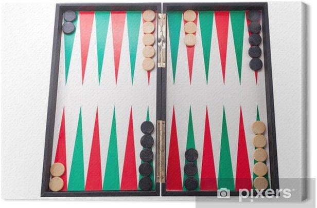 Cuadro en Lienzo Tablero del Backgammon - Entretenimiento