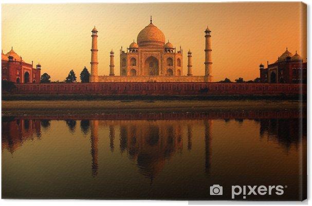 Cuadro en Lienzo Taj mahal en la india durante una hermosa puesta de sol - Asia