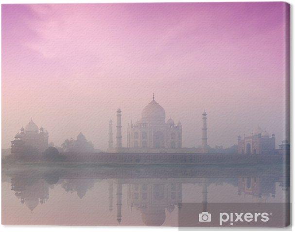 Cuadro en Lienzo Taj Mahal en la salida del sol puesta del sol, Agra, India - Monumentos