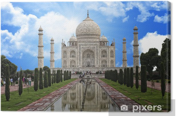 Cuadro en Lienzo Taj mahal india monumento - Asia