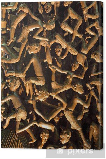 Cuadro en Lienzo Talla de madera africana - Artes y creación