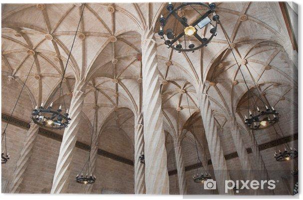 Cuadro en Lienzo Techo vista de la Lonja de la Seda Antiguo, Valencia - Europa