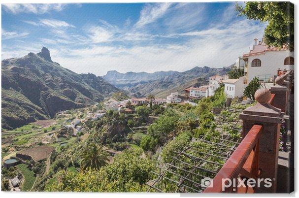 Cuadro en Lienzo Tejeda - Gran Canaria - Blick ins Tal - Europa