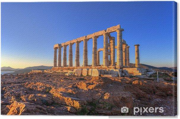 Cuadro en Lienzo Templo de Poseidón, Cabo Sunión, Grecia - Monumentos