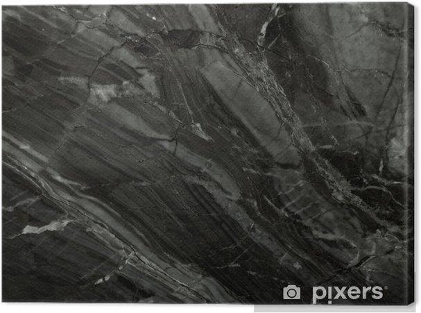 Cuadro en Lienzo Textura de mármol negro (high.res.) - Texturas