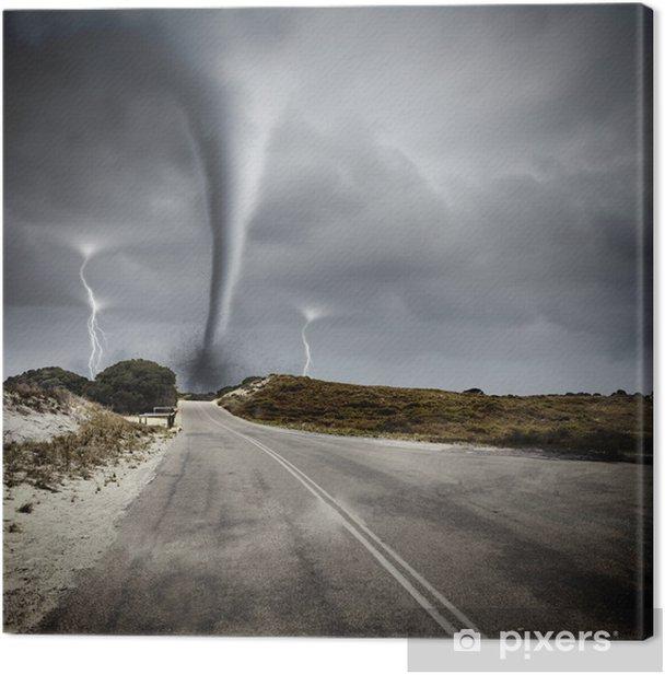 Cuadro en Lienzo Tornado en la carretera - Temas