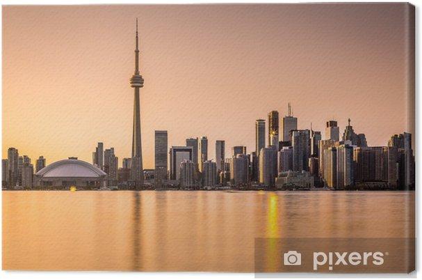 Cuadro en Lienzo Toronto Skyline at Sunset - América