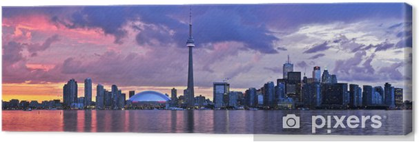 Cuadro en Lienzo Toronto Skyline - Temas