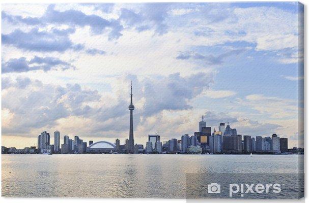 Cuadro en Lienzo Toronto waterfront horizonte final de la tarde - América
