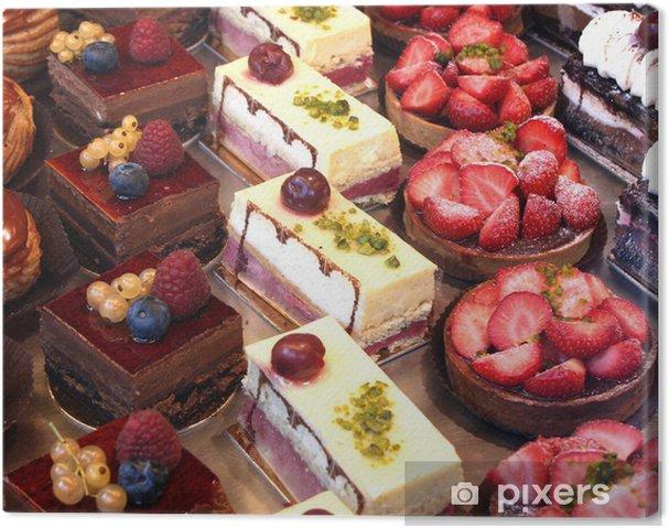 Cuadro en Lienzo Tortas y pasteles pantalla - Temas