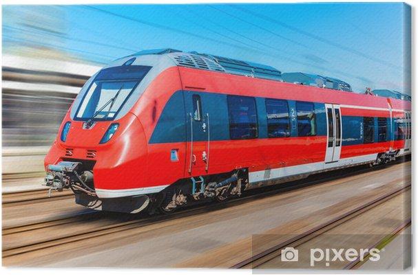 Cuadro en Lienzo Tren de alta velocidad moderno - Temas