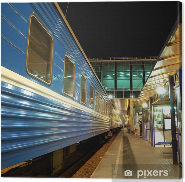 Cuadro en Lienzo Tren en la estación - Temas