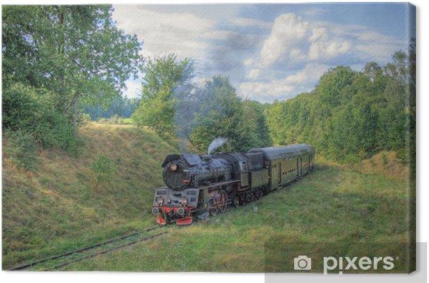 Cuadro en Lienzo Tren retro del vapor - Temas