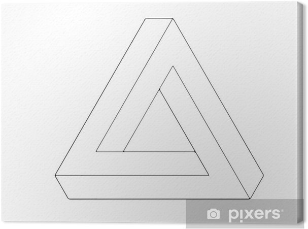 Cuadro en Lienzo Triángulo de Escher, ilusión óptica • Pixers ...