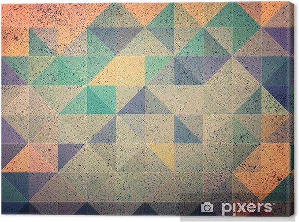 Cuadro en Lienzo Triángulo rosa y morado de fondo abstracto - Recursos gráficos