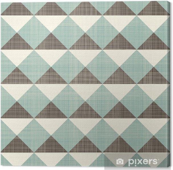 Cuadro en Lienzo Triángulos geométricos retro sin patrón - Estilos