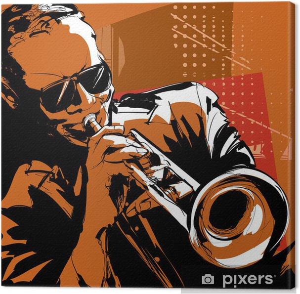 Cuadro en Lienzo Trompetista de jazz - Jazz