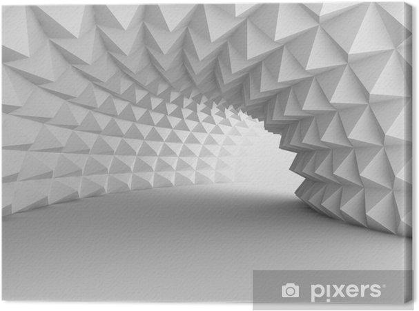 Cuadro en Lienzo Túnel de arquitectura abstracta con fondo claro - Construcciones y arquitectura