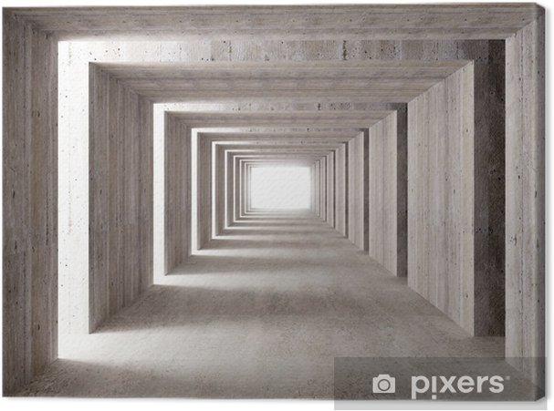 Cuadro en Lienzo Túnel de concreto y luces laterales - Estilos