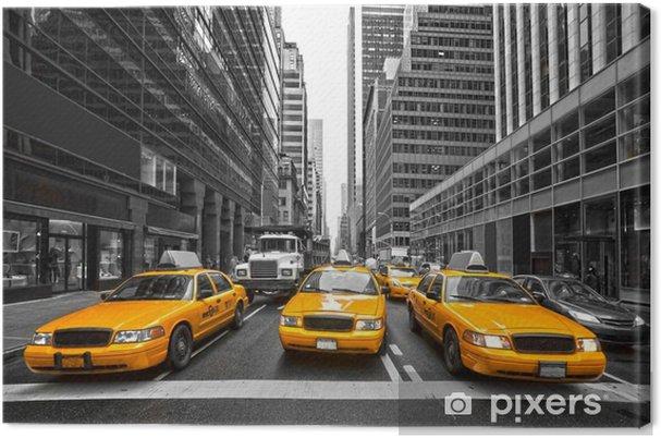 Cuadro en Lienzo TYellow taxis en Nueva York, EE.UU.. -
