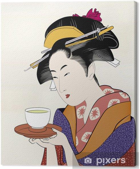 Cuadro en Lienzo Ukiyo Emoji Edo belleza pintura 16 - Estilos