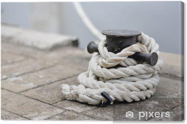Cuadro en Lienzo Una imagen de una cuerda en un puerto de EE.UU. - Barcos