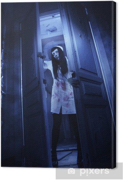 Cuadro en Lienzo Una película de terror. Enfermera muerta Loco - Temas