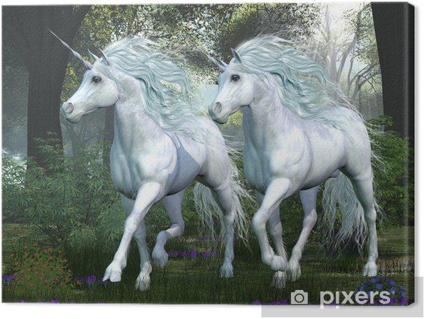 Cuadro en Lienzo Unicornio Elm Bosque - Temas