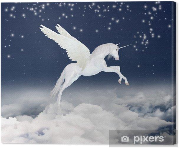 Cuadro en Lienzo Unicornio en el cielo - Temas