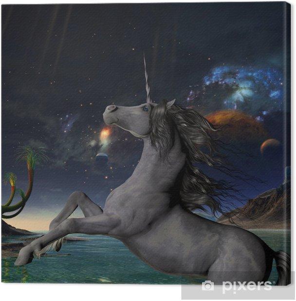 Cuadro en Lienzo Unicornio Universo - Temas