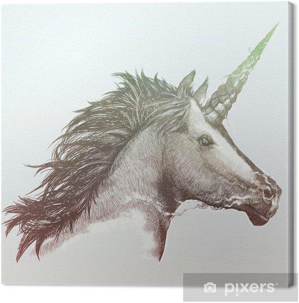 Cuadro en Lienzo Unicornio - Estilos