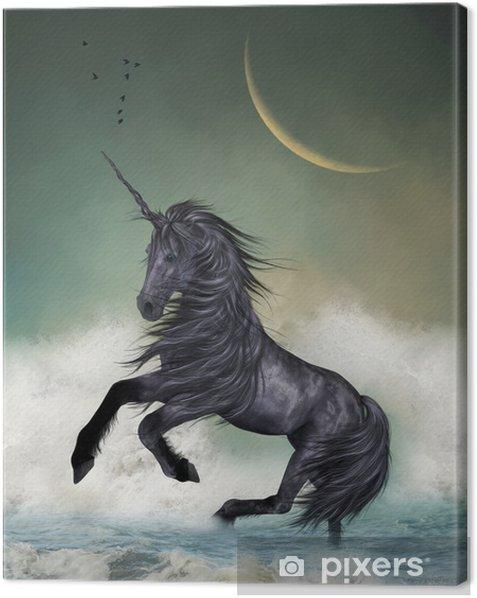 Cuadro en Lienzo Unicornio - Temas