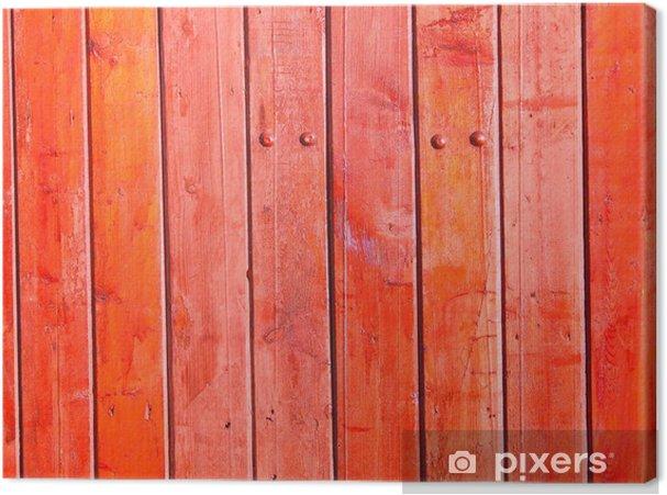 Cuadro en Lienzo Valla de madera vieja. - Industria pesada