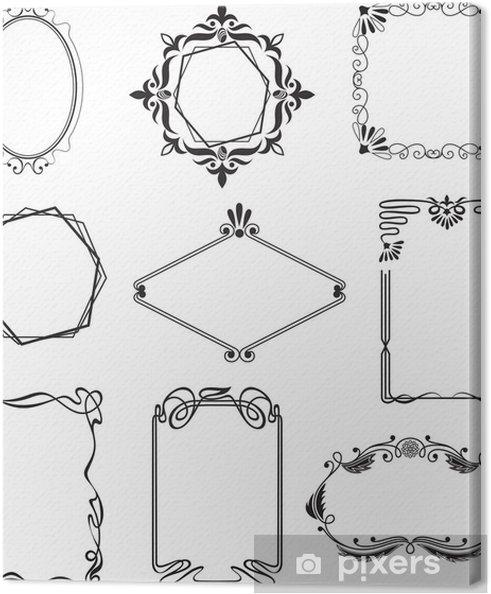 Cuadro en Lienzo Varios hermosos marcos de estilo art nouveau - Abstractos