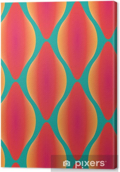 Cuadro en Lienzo Vector de colorido patrón geométrico sin fisuras abstracta contemporánea - Recursos gráficos