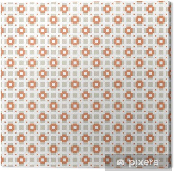 Cuadro en Lienzo Vector sin patrón. Repetición de azulejos geométricos con plazas - Ventas