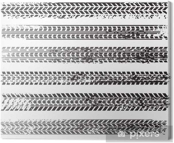 Cuadro en Lienzo Vector sucio neumático pistas - Fondos