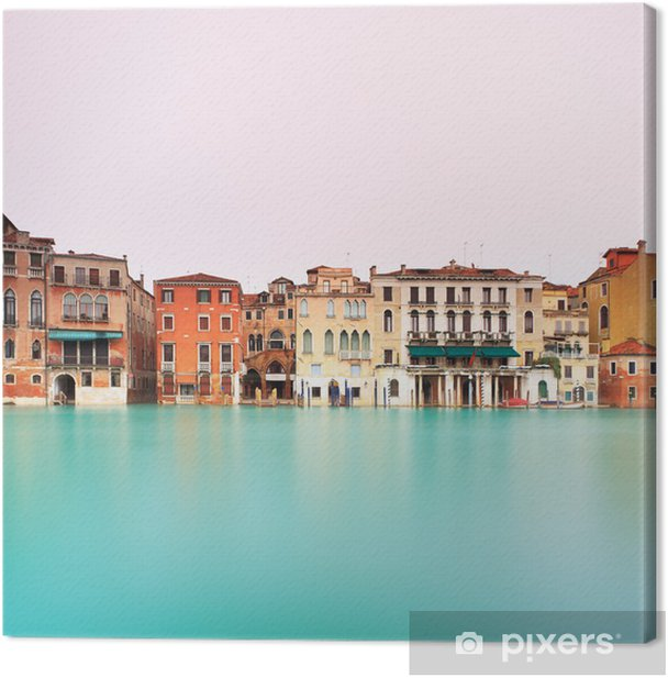 Cuadro en Lienzo Venecia, detalle canal grande. La exposición a largo. - Ciudades europeas