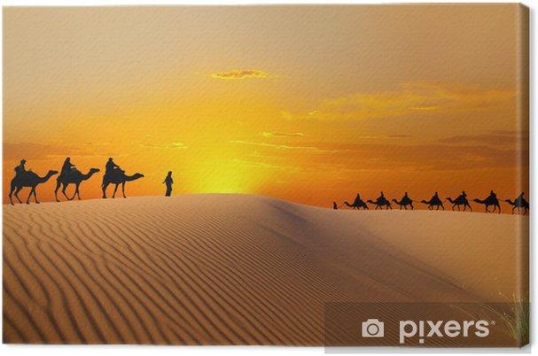 Cuadro en Lienzo Viaje con camello - África