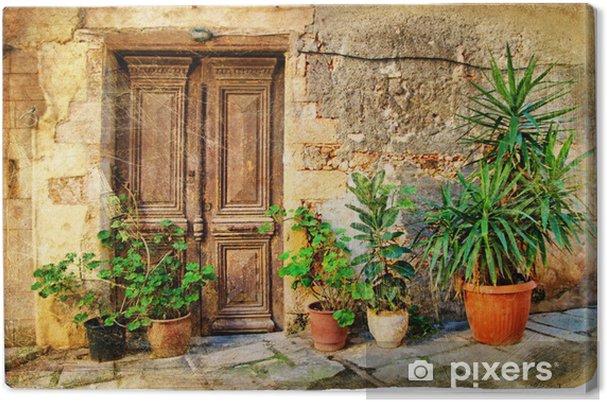 Cuadro en Lienzo Viejas puertas griego pictóricas - Temas