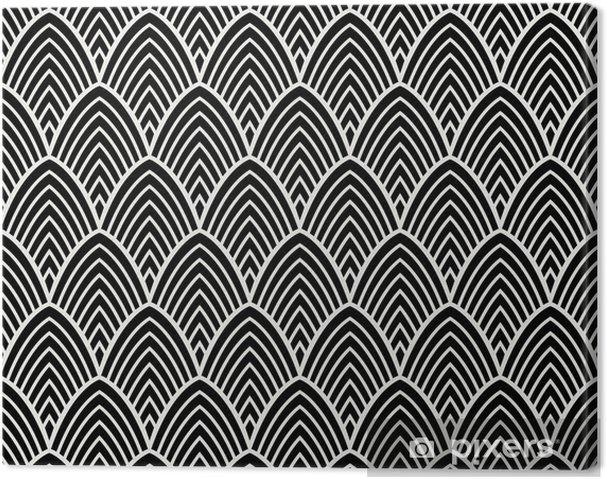 Cuadro en Lienzo Vintage art deco de patrones sin fisuras. textura decorativa geométrica. - Recursos gráficos