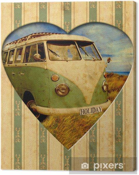 Cuadro en Lienzo Vintage Heart - Holiday - Texturas