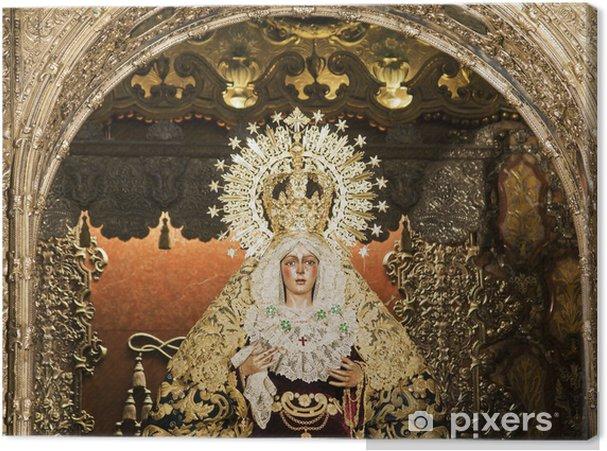 Cuadro En Lienzo Virgen De La Macarena En Sevilla Espana