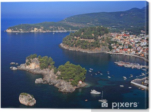 Cuadro en Lienzo Vista aérea de Parga Grecia - Europa
