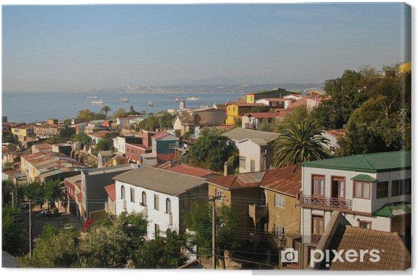 Cuadro en Lienzo Vista aérea de Valparaíso, Chile - América